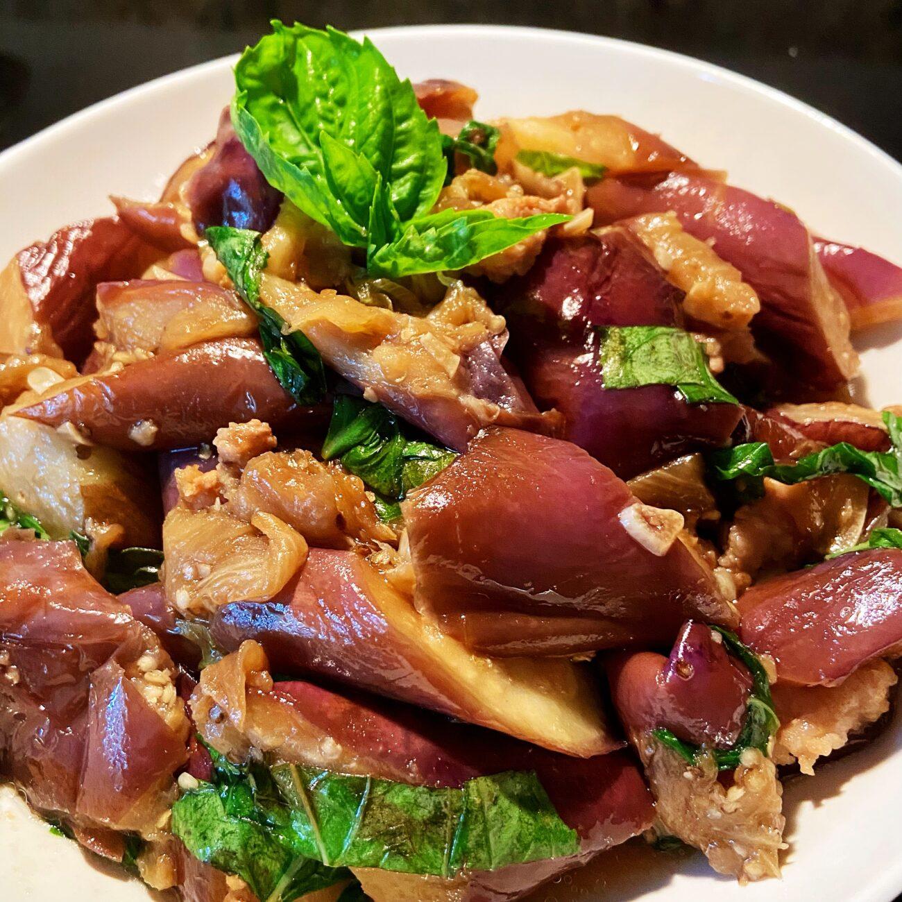 Basil eggplants