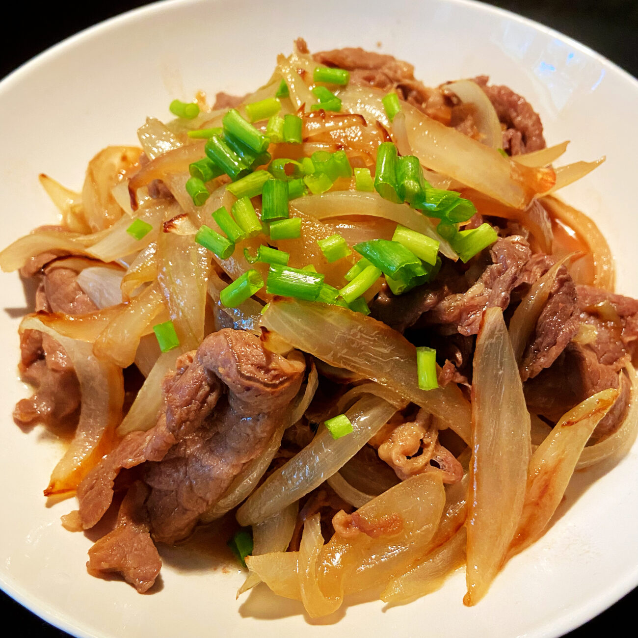 Japanese Sliced beef with Sweet Onion ( keto friendly)