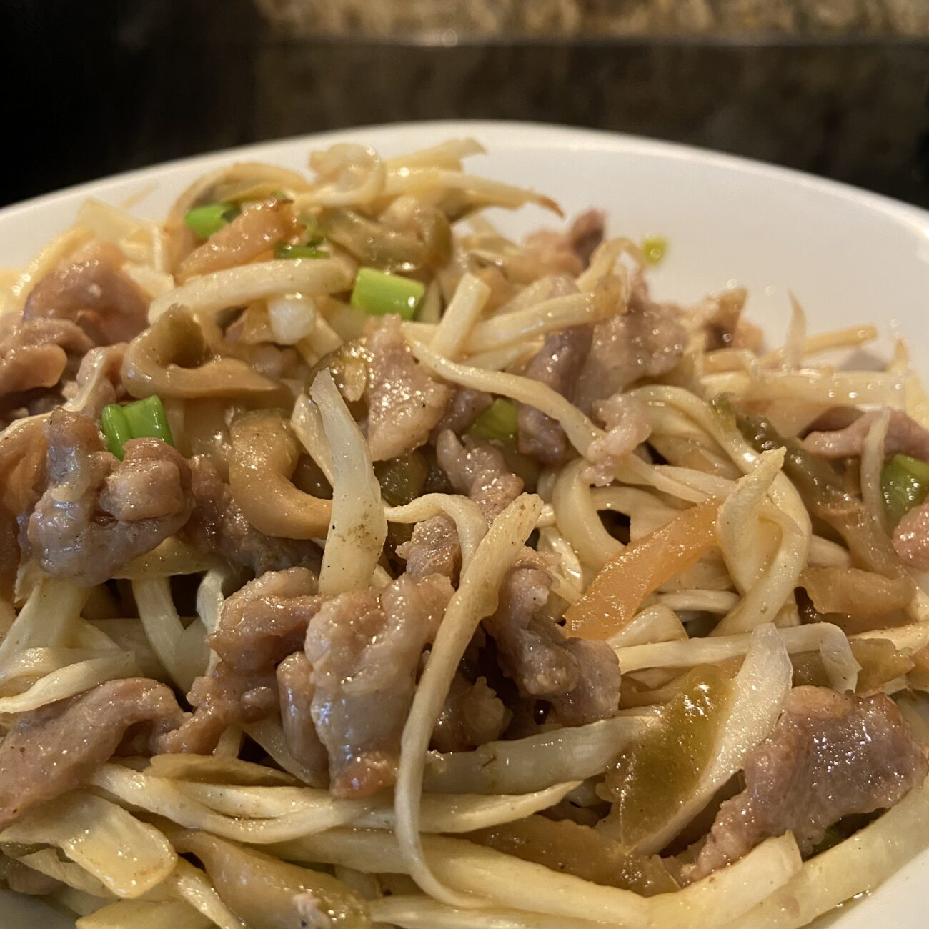 Water Bamboo shoots Stir-fry with Pork and Pickled Mustard